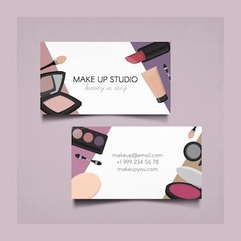 Maquillaje tarjeta de visita del estudio