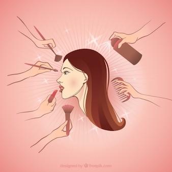 Maquillar a una mujer