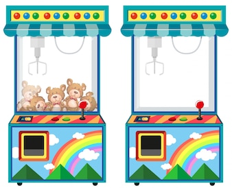 Máquina de juego de arcade con ilustración de muñecas