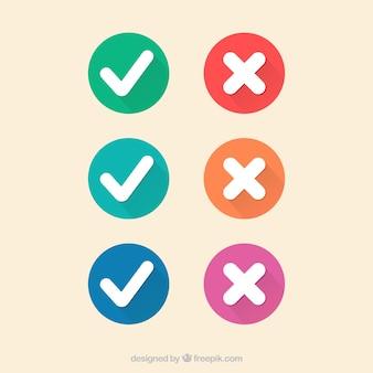 Marcas de verificación de colores