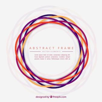 Marco abstracto hecho con círculos dibujados a mano