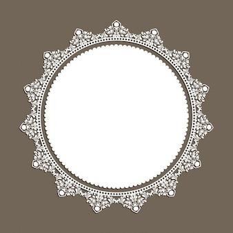 Marco blanco con ornamentos decorativos