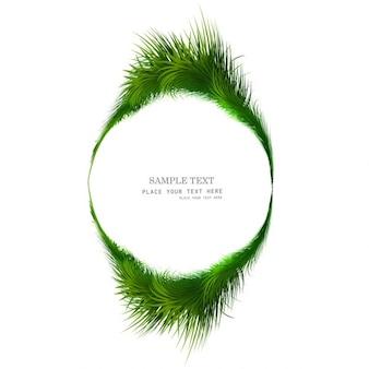 Marco circular con hierba verde