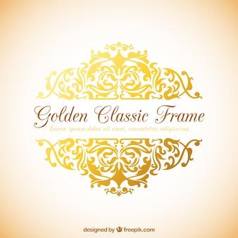 Marco clásico de oro