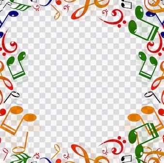 Marco con elementos musicales
