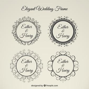 Marco de boda elegante
