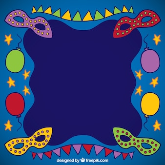 Marco de carnaval dibujado a mano
