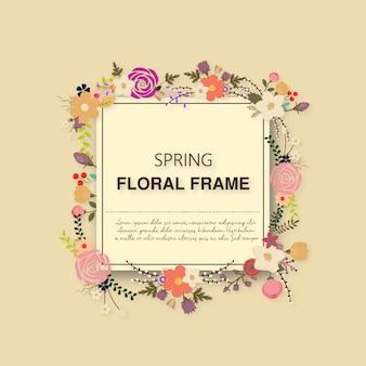Marco de flores primaveral