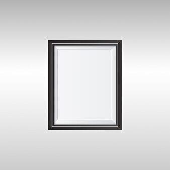Marco de fotos realista negro