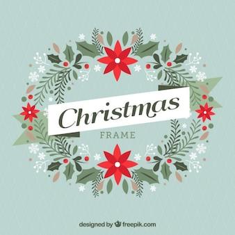 Marco de guirnalda de navidad