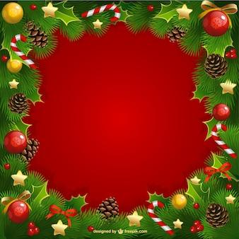 Marco de la Navidad con el muérdago