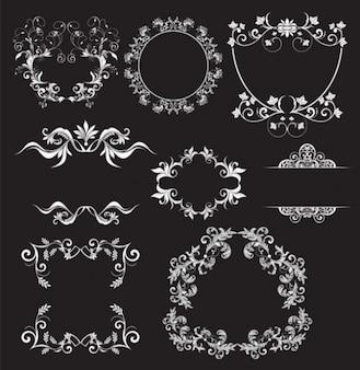 Marco de la vendimia con elementos decorativos