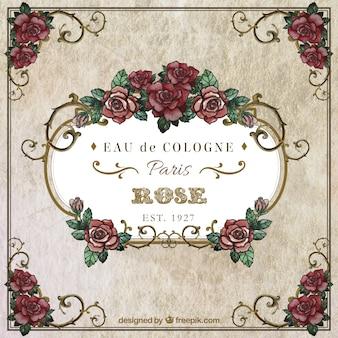 Marco de rosas de la acuarela