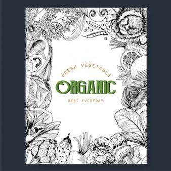 Marco de verduras orgánicas