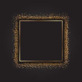 Marco decorativo con un efecto de brillo dorado