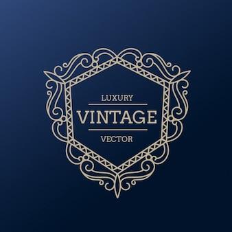 marco lujoso y vintage