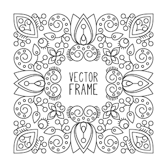 Marco ornamental dibujado a mano