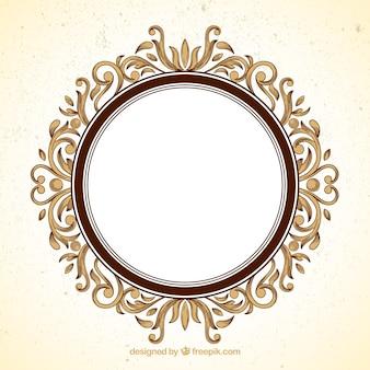 marco ornamental redondo