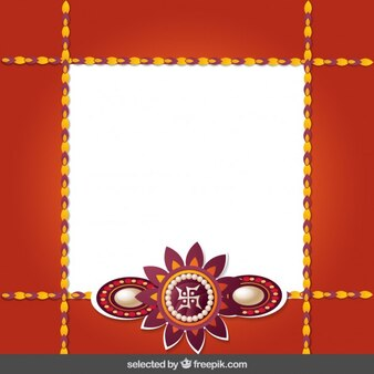 Marco rojo y oro Rakhi
