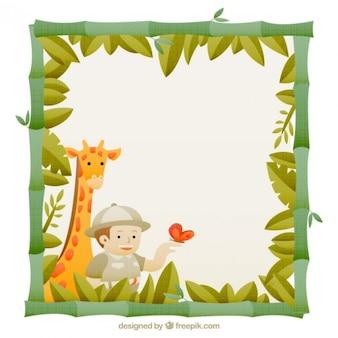 Marco simpático de safari