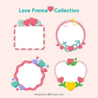 Marcos de amor coloridos