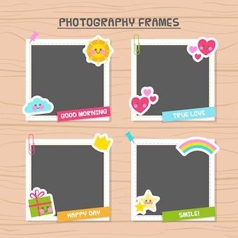 Marcos de fotografías decorados con bonitos elementos