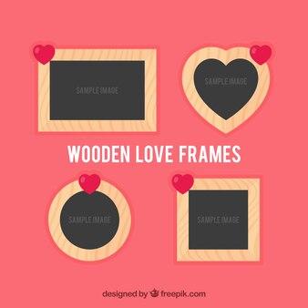 Marcos de madera de amor