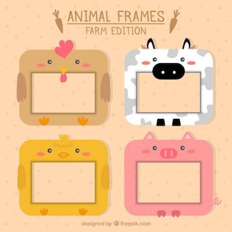 Marcos decorativos de animales adorables