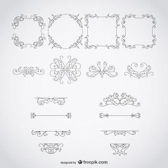 Marcos y adornos caligráficos