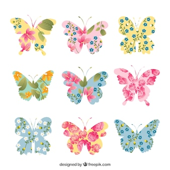 Mariposas florales