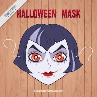 Máscara de chica vampira