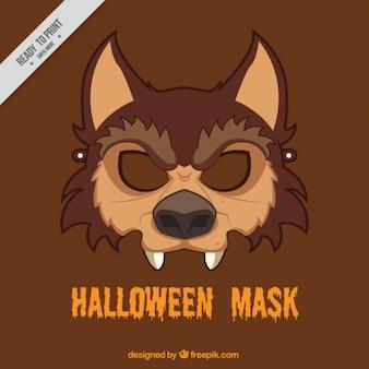 Máscara de lobo de halloween