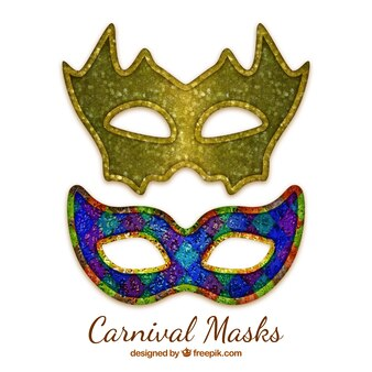 Máscaras de carnaval elegantes