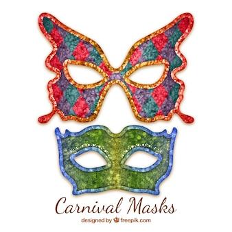 Máscaras decorativas de carnaval