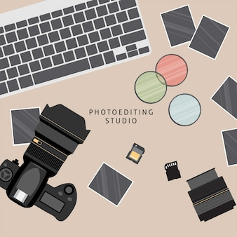 Material profesional de fotografía