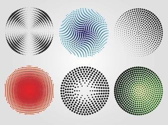 Medios tonos círculos