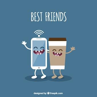 Mejores amigos ilustración