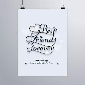 Mejores amigos para siempre, feliz san valentín