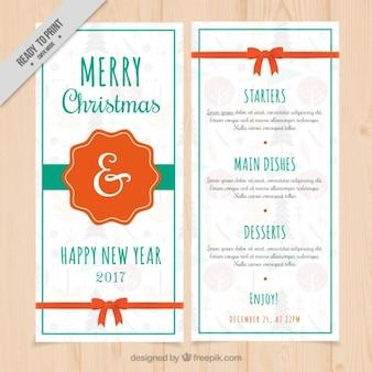Menñu blanco de navidad y año nuevo