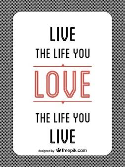 Mensaje de Amor en diseño minimalista