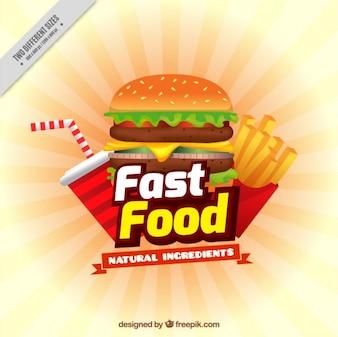 Menú de comida rápida