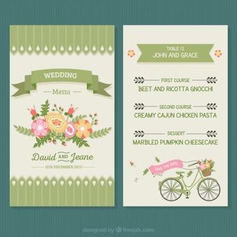 Menú floral de boda