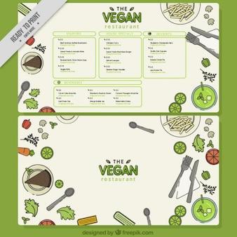 Menú genial para un restaurante vegano