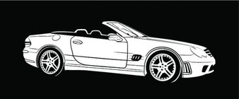 Mercedes benz coche de la visión lateral