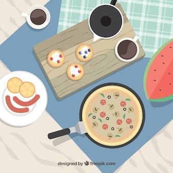 Mesa repleta de deliciosa comida