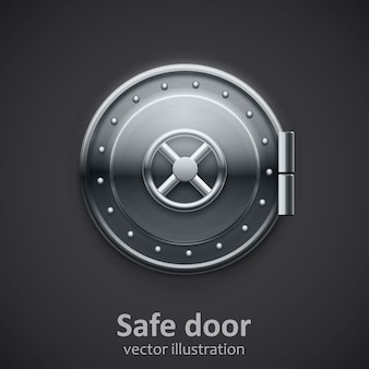 Metal puerta segura objeto 3D realista