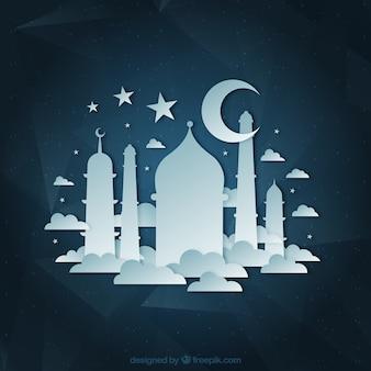 Mezquita y luna creciente