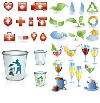 Mixta paquete iconos web