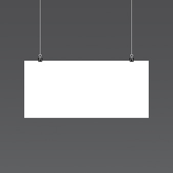 Mockup de papel horizontal