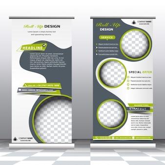 Modelo de banners abstractos profesionales